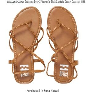 Billabong Sandals Crossing Over Gladiator sz 10M